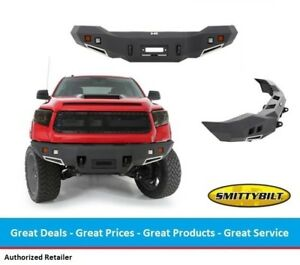 Smittybilt M1 Front Winch Bumper With Light Kit For Toyota Tundra 14 17