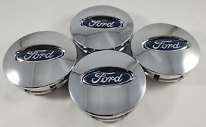 4x Ford Chrome Polish Wheel Hub Center Caps Bb53 1a096 Ra Edge Explorer Fusion