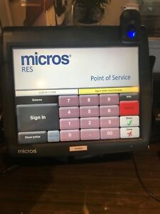 Micros 3700 Workstation 5a Pos System With Finger Print Scanner