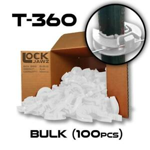 Lockjawz White T 360 Electric Fence Insulators Line Corner Post 100 Pk