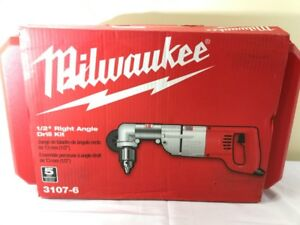 New Milwaukee 3107 6 7 Amp 1 2 Corded Heavy Right angle Drill Kit fkt001915