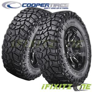 2 Cooper Discoverer Stt Pro 37x12 50r17 124q D Blk Extream All Terrain Mud Tires