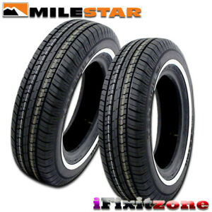 2 Milestar Ms775 P215 70r15 97s white Wall All Season Tires New