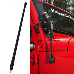 13 Am Fm Radio Antenna Reflex Fits Jeep Wrangler Jk Jl 2007 18 Rugged Ridge New