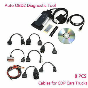Tcs Cdp Pro Plus For Autocom Car Auto Obd2 Diagnostic Tool Kit 8pcs Cables Key