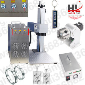 20w Fiber Laser Marking Machine Metal Engraver Marker With Free Rotary Device
