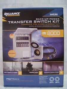 Reliance Back up Power Pre wired 6 circuit Complete Transfer Switch Kit 306lrk