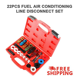 22pcs Oil Fuel Transmission Line Disconnect Tool Set For A C Air Conditioning Us
