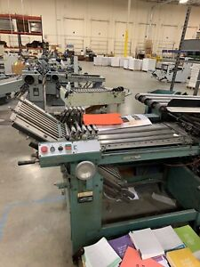 Baumfolder Baum 20 X 26 Continuous Fed 4 4 4 Folder W Right Angle 8pp Unit