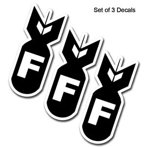 F Bomb Hard Hat Stickers Motorcycle Helmet Car Truck Cooler Bumper Toolbox Decal