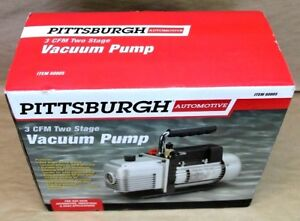 Pittsburgh 3 Cfm Two Stage Vacuum Pump Item 60805 New Free Shipping