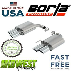 Borla S type Axle Back Dual Exhaust 409 Stainless 2018 Ford Mustang Gt 5 0l Rwd