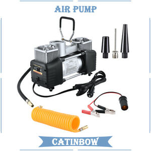 150psi Heavy Duty Double Cylinder Air Pump Compressor Car Tire Tyre Inflator 12v