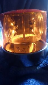 Vintage Grote Model 7622 Amber Beacon Dual Emergency Light tested
