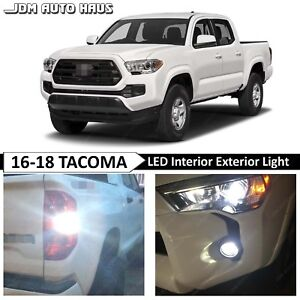 Fits 2016 2018 Toyota Tacoma Full White Interior Exterior Led Lights Bulbs