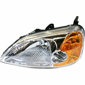 Depo Nsf Head Light For 2001 2002 2003 Honda Civic Coupe Driver Side 33151s5pa01