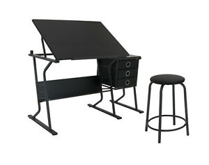 Studio Designs Eclipse Drafting Table And Chair Set