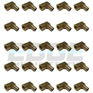 25 Pack 1 2 Hose Barb Elbow X 3 8 Female Npt Brass Pipe Fitting Thread Wog