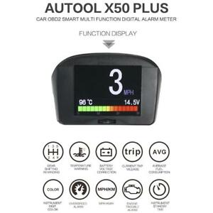 Autool X50 Plus Car Obd Hud Head Up Display Projector Voltage Auto Speed Alarm