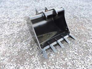 New Attachments Plus 30 Tooth Digging Bucket Bobcat Mini Excavator E45 E55
