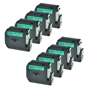 8pk Black On Green Tape For Brother P touch Mk731 M k731 Pt 100 12mm Label Maker