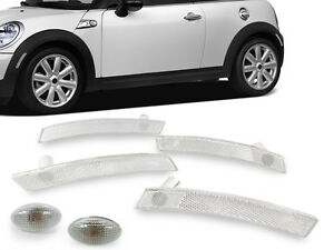 6pcs F r Clear Bumper fender Side Marker Light For 02 06 Mini Cooper R50 r52 r53