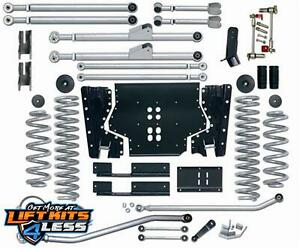 Rubicon Re7213 3 5 Ed Long Arm Lift Kit With Rear Track Bar For 97 06 Jeep Tj
