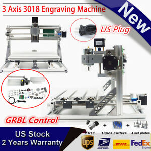3 Axis 3018 Cnc Engraving Carving Machine Pcb Milling Wood Router Engraver Grbl
