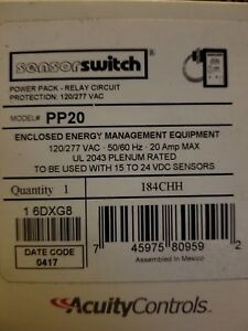 New Acuity Controls Occupancy Sensor Switch Relay Pp20 Qty 9