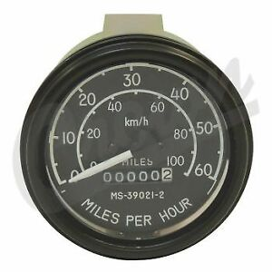 Jeep Cj 45 68 Replacement In Dash Speedometer See Desc