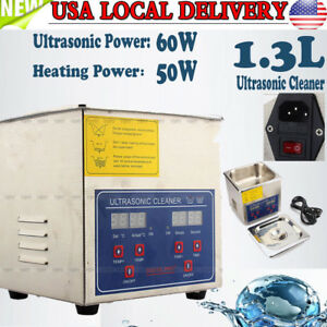 1 3l Stainless Industry Digital Ultrasonic Cleaner Heater Timer Jewel Clean Tank