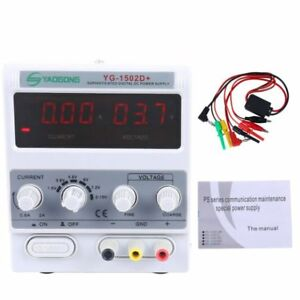 Digital Lcd Dc15v 2a Power Supply Variable Lab Grade Bench Adjustable Test Part