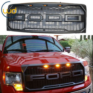 2009 2014 For Ford F150 Front Grill Replacement Raptor Style Conversion Gray