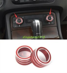 2pc Interior Ac Climate Control Knob Ring Cover For Volkswagen Touareg 2011 2017