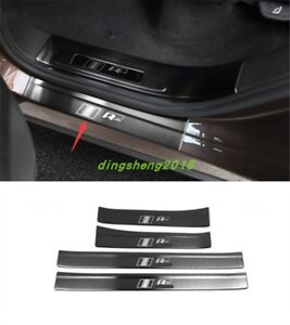 4pcs Steel Car Outer Door Sill Scuff Plate Trim For Volkswagen Touareg 2011 2017