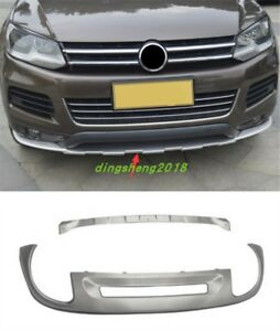2pc Stainless Bumper Fit Front Rear Board Guard For Volkswagen Touareg 2011 2017