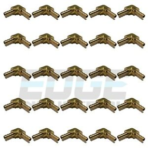 25 Pack 1 8 Hose Barb Elbow 90 Degree Brass Union Pipe Fitting Thread Wog