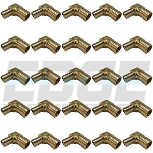 25 Pack 3 4 X 1 2 Hose Barb Elbow 90 Degree Brass Pipe Fitting Union Fuel Wog