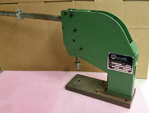 Milford Rivet Machine Riveter Model 216 Tooled For Rivet 511 Roll Set 415 1g 4