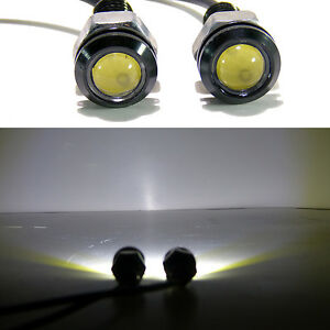 4x White Led Smd Motorcycle Car License Plate Screw Bolt Light Lamp Bulb 12v