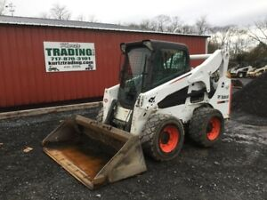 2015 Bobcat S750 Skid Steer Loader W Cab 2speed Joystick Only 600hrs