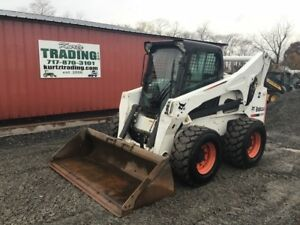 2012 Bobcat S850 Skid Steer Loader W Cab 2 Speed High Flow Only 1000hrs