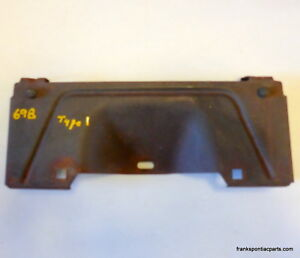 1969 Pontiac Bonneville Catalina Executive Front Valance License Plate Bracket
