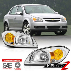 05 10 Chevy Cobalt g5 Pursuit Pair Left Right Side Replacement Headlight Lamp