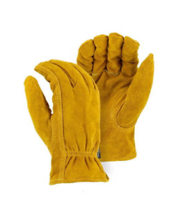 2 Pair Majestic Winter Lined Split Cowhide Thinsulate Drivers Gloves X large
