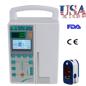 Infusion Pump Iv Fluid Equipment Voice Alarm Monitor Kvo Purge Memory Preset