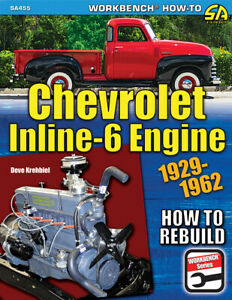 Chevrolet Inline Six 6 235 261 216 207 194 181 Rebuild Engine Manual Book