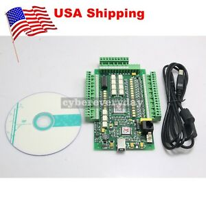 3 Axis Usb Cnc Mach3 Stepper Motor Controller Motion Card 0 10v Adapter us