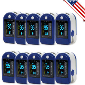 10pcs Pulse Oximeter Finger Tip Blood Oxygen Monitor Spo2 Pr Monitor Cms50d 2019