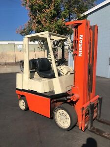 Nissan Propane Forklift 4000 Lbs Cap 188 Lift S s
